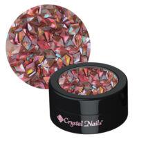 CN körömdísz rombusz flitter - 3D Peach dejavu