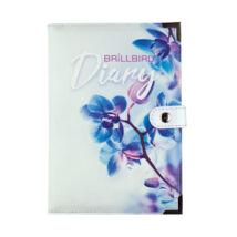 BB Naptár borító - Kék orchidea