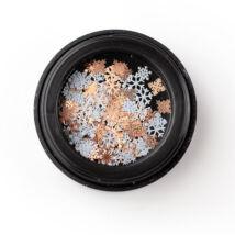 BB Snowflake díszítő - rosegold & white
