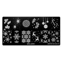 BB Körömnyomda Lemez #Winter Design 1