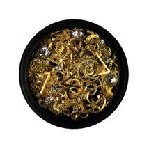 BB Nail art tégelyes díszítő vegyes - metál2