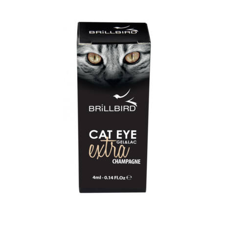 BB Cat eye gel&lac extra 4ml #champagne
