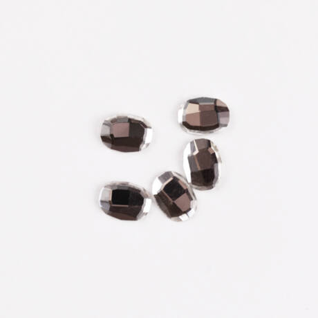 BB Formakövek (10 db-os) oval  8x6mm clear