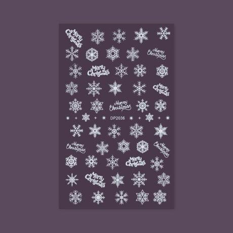 BB köröm matrica (DP-2036) - karácsonyi