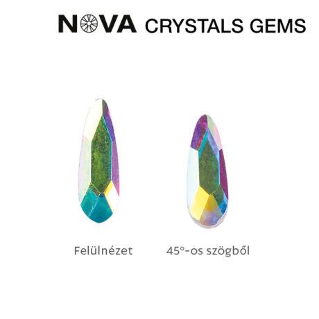 CN NOVA Formakő Csepp 2x6 mm Crystal AB (10 db-os)