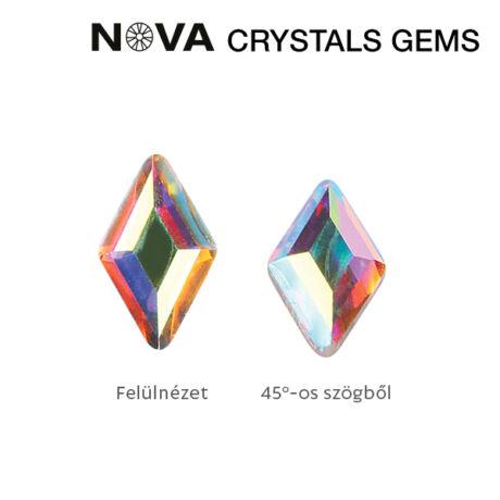CN NOVA Formakő Rombusz 3x5 mm Crystal AB (10 db-os)