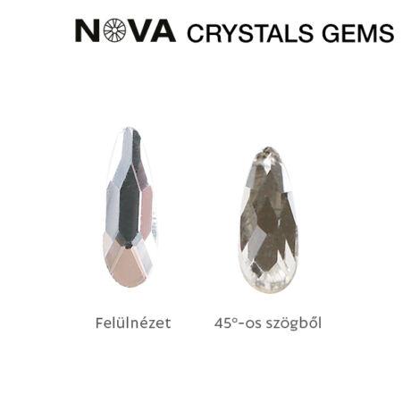 CN NOVA Formakő Csepp 2x6 mm Crystal (10 db-os)