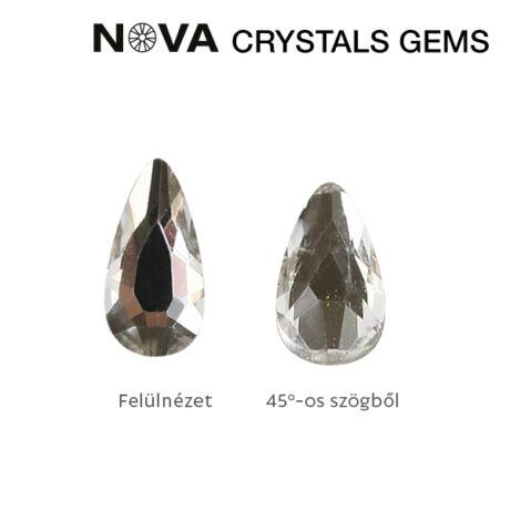CN NOVA Formakő Csepp 5x3 mm Crystal (10 db-os)