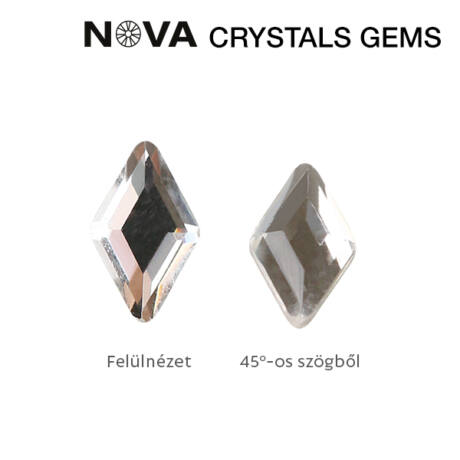 CN NOVA Formakő Rombusz 3x5 mm Crystal (10 db-os)