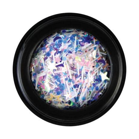 BB Nail art tégelyes díszítő vegyes- csillagos2 - kék